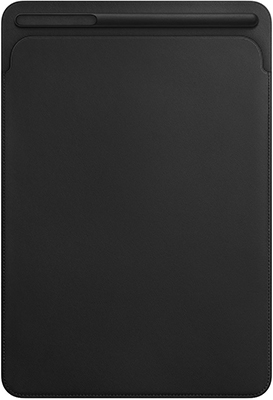 Чехол Apple Leather Sleeve для iPad Pro 12 9 дюйма. Цвет (Black) черный MQ0U2ZM/A