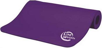 Коврик для йоги и фитнеса Lite Weights 5420LW фиолетовый