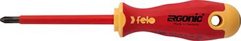 Отвертка диэлектрическая Felo Ergonic крестовая PH 2X100 41420390 отвертка felo ergonic крестовая ph 2x100 40220310