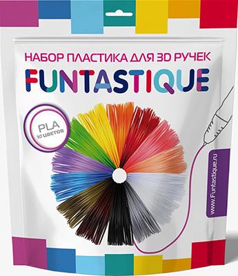 Комплект PLA-пластика Funtastique для 3D-ручек - 10 цветов PLA-PEN-10