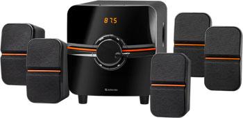 Фото - Акустическая 5.1 система Defender Cinema 64 64Вт BT/FM/MP3/SD/USB/LED/RC (65164) аудиомагнитола telefunken tf srp3503b серый 6вт mp3 fm dig usb bt sd