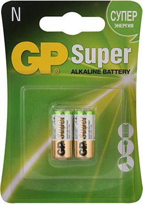 Фото - Алкалиновые батарейки GP Super Alkaline 910A N 2 шт. 910A-2CR2 20/160 батарейки sonnen alkaline d lr20 13а алкалиновые комплект 2 шт в блистере 451091