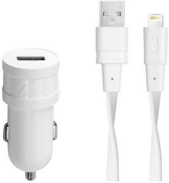 Автомобильное з/у + DАТА кабель Rivacase 1 USB / 1 A Mfi Lightning VA4215 WD2 RU
