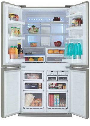 Фото - Многокамерный холодильник Sharp SJ-FP 97 VBE sj fp 97 vst