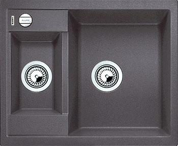 Кухонная мойка Blanco METRA 6 SILGRANIT темная скала с клапаном-автоматом все цены