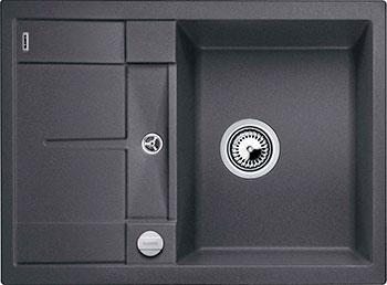 Кухонная мойка Blanco METRA 45 S COMPACT SILGRANIT темная скала с клапаном-автоматом все цены