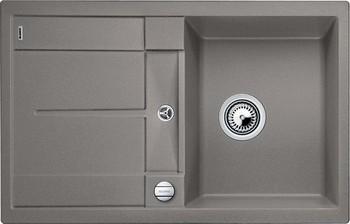 Кухонная мойка BLANCO METRA 45 S SILGRANIT серый беж с клапаном-автоматом мойка кухонная blanco dalago 45 серый беж с клапаном автоматом 517317