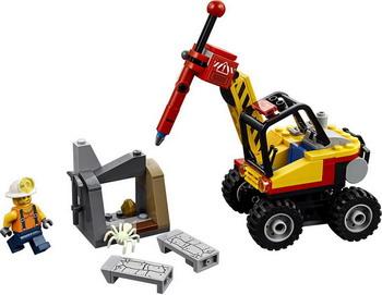 Конструктор Lego City Mining: Трактор для горных работ 60185 конструктор lego city mining 60184 бригада шахтеров