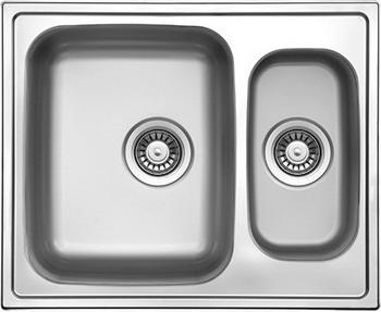 Кухонная мойка Florentina ПРОФИ 615.500.1K.08 нержавеющая сталь декорированная (чаша слева) кухонная мойка florentina профи 780 500 10 08 нержавеющая сталь декорированная чаша слева