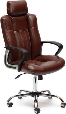 Кресло Tetchair OXFORD хром (кож/зам коричневый/коричневый перфорированный 2 TONE/2 TONE /06) кресло компьютерное tetchair оксфорд oxford доступные цвета обивки искусств корич кожа искусств корич перфор кожа