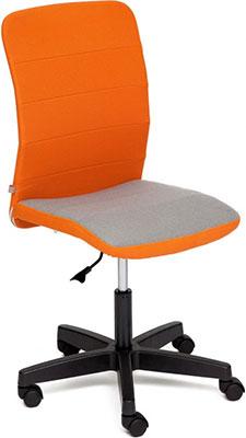 лучшая цена Кресло Tetchair BESTO ткань оранжевый/серый с23/с27