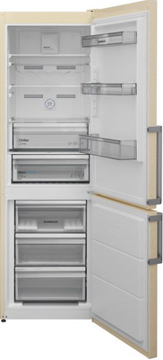 цена на Двухкамерный холодильник Scandilux CNF 341 EZ B Beigh marble