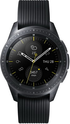 Часы Samsung Galaxy Watch 42 mm SM-R 810 глубокий черный умные часы samsung galaxy watch 46 mm silver sm r800n