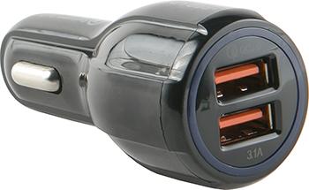 Автомобильное зарядное устройство Red Line Tech 2 USB (модель AC2-30) Quick Charge 3.0 черный автомобильное зарядное устройство red line 2usb c20 2 1а ут000010219 черный