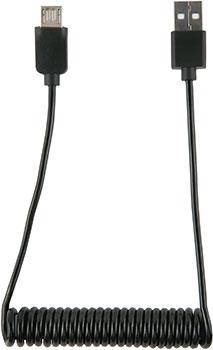 Фото - Кабель Red Line Spiral USB-Micro USB черный кабель satechi flexible micro to usb 15 см черный