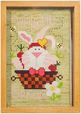 Вышивка 3Д,РК,рама,брелки,под. Белоснежка 201-EF Кролик