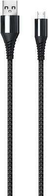 Фото - Кабель Red Line Razor USB-Micro USB черно-серый кабель kubic c05m gray usb micro usb текстиль 3м серый