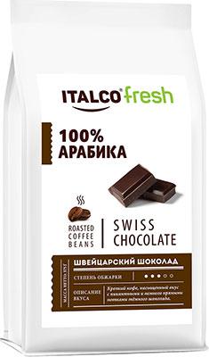 Фото - Кофе в зернах Italco Швейцарский шоколад (Swiss chocolate) ароматизированный 375 г кофе в зернах italco fresh irish cream ирландский крем ароматизированный 375 г