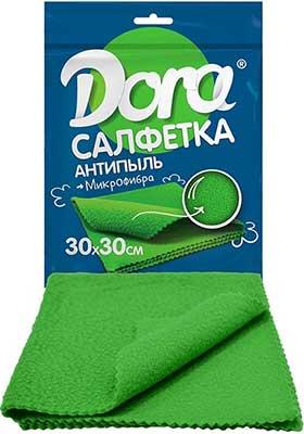 Для ручной очистки поверхностей Dora Салфетка из микрофибры ''Антипыль'' (2001-003) салфетка из микрофибры qualita антипыль 1 мл