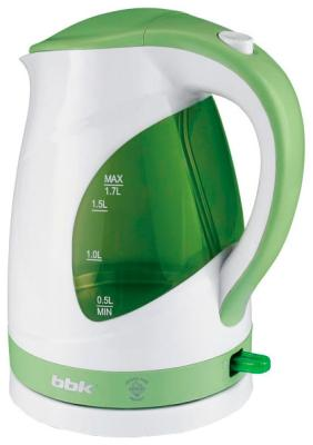 Чайник электрический BBK EK 1700 P белый/зеленый