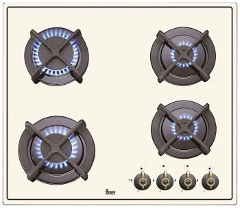 Встраиваемая газовая варочная панель Teka ER 60 4G AI AL CI WHITE CREAM