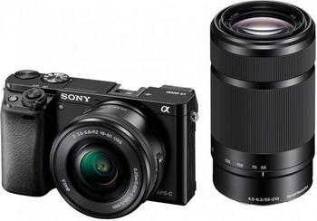 Цифровой фотоаппарат Sony Alpha ILCE-6000 Kit 16-50 PZ+ 55-210 черный