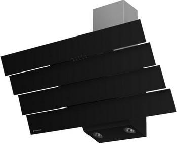 лучшая цена Вытяжка MAUNFELD QUART 90 Черное стекло