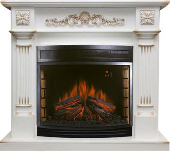 Каминокомплект Royal Flame Florina c очагом Dioramic 28 бел.дуб/патина золото
