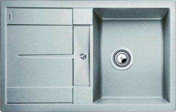 Кухонная мойка Blanco METRA 45 S SILGRANIT жемчужный с клапаном-автоматом кухонная мойка blanco yova xl 6s silgranit жемчужный с клапаном автоматом infino 523597