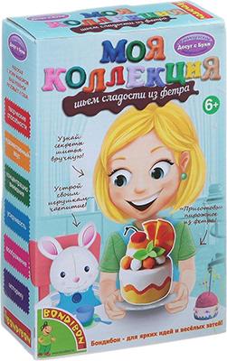 купить Набор для шитья Bondibon МК Шьем сладости из фетра. Пирожное Апельсин ВВ1234 по цене 121 рублей