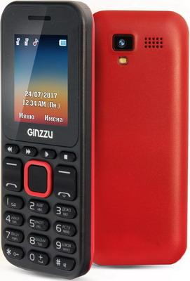Мобильный телефон Ginzzu M 102 D mini черный/красный цена