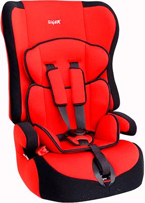 Автокресло Siger Прайм красный 9-36 кг автокресло siger прайм серый