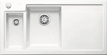 Кухонная мойка BLANCO 524138 AXON II 6 S (чаша слева) керамика глянцевый белый PuraPlus с кл.-авт. InFino кухонная мойка pegas 53 0 6 шлифованный глянцевый 530w ст