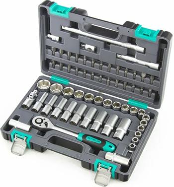 Набор инструментов разного назначения Stels 1/2'' CrV 60 предм. 14103 набор инструментов 1 4 crv пластиковый кейс 29 предм stels 14100