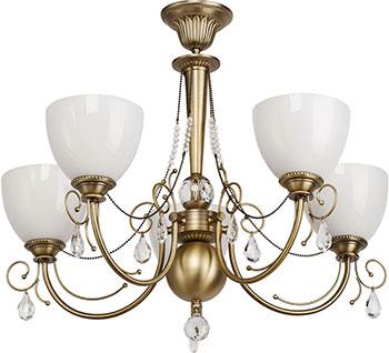 Люстра подвесная MW-light Фелиция 347016405 5*60 W E 27 220 V цена в Москве и Питере