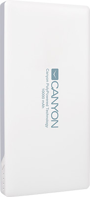 Внешний аккумулятор Canyon CNS-TPBP 10 W Белый canyon cns tpbp10w white внешний аккумулятор 10000 мач