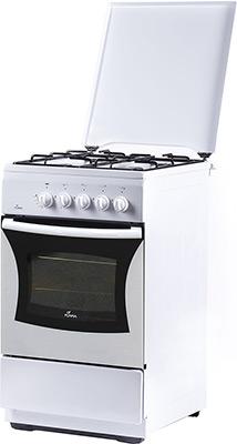 Газовая плита Flama FG 24023 W белый плита газовая flama fg 24023 w белый металлическая крышка реш эмаль
