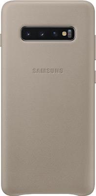 Чехол (клип-кейс) Samsung S 10+ (G 975) LeatherCover gray EF-VG 975 LJEGRU чехол клип кейс samsung s 10 e g 970 leathercover gray ef vg 970 ljegru