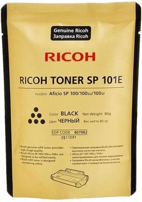 Тонер для заправки Ricoh SP 101 E 407062 Чёрный цена в Москве и Питере