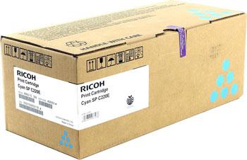 Тонер-картридж Ricoh SP C 220 E Cyan Aficio 407645 Голубой недорого