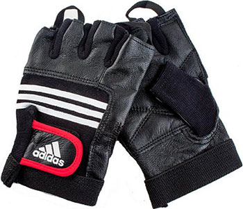 Тяжелоатлетические перчатки Adidas Leather Lifting Glove S/M ADGB-12124 (кожа)