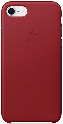Кожаный чехол Apple Leather Case для iPhone 8/7 цвет (PRODUCT)RED красный MQHA2ZM/A чехол для apple iphone 7 leather case storm gray