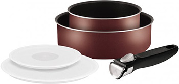 Набор посуды Tefal Ingenio PTFE Red 3 04162840 набор посуды со съемной ручкой tefal ingenio black 04181830
