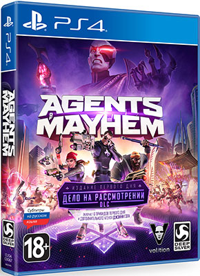 Игра для приставки Sony PS4 Agents of Mayhem ИЗДАНИЕ ПЕРВОГО ДНЯ mobile agents