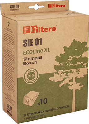 Набор пылесборников Filtero, SIE 01 ECOLine XL 10 шт., Россия  - купить со скидкой