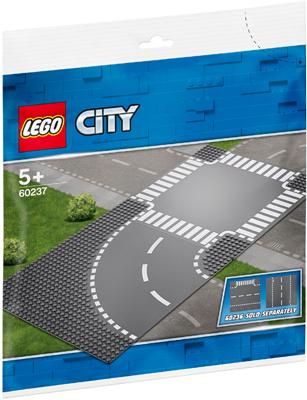 Конструктор Lego Поворот и перекрёсток 60237 стоимость
