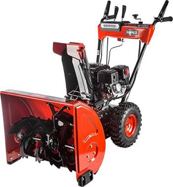 Фото - Снегоуборочная машина Hammer SNOWBULL6100 бензиновый снегоуборочная машина бензиновая champion st656 6 5 л с 56 см 3 6 л 72кг ручной стартер колёсный привод 5f 2r