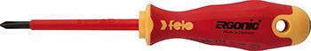 Отвертка диэлектрическая Felo Ergonic крестовая PH 1X80 41410290 отвертка felo ergonic крестовая ph 2x100 40220310