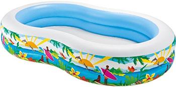 Семейный надувной бассейн Intex SWIM CENTER SEASHORE POOL 262*160*46 см 56490NP