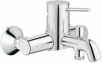 Смеситель для ванной комнаты Grohe BauClassic 32865000 смеситель для ванны с подключением душа grohe bauclassic 32865000 однорычажный